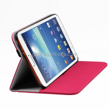 Smart accessory shock proof leather galaxy tab 3 8.0 flip tablet back cover