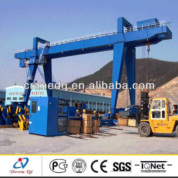 Electric double girder engineering project 50t gantry cranes