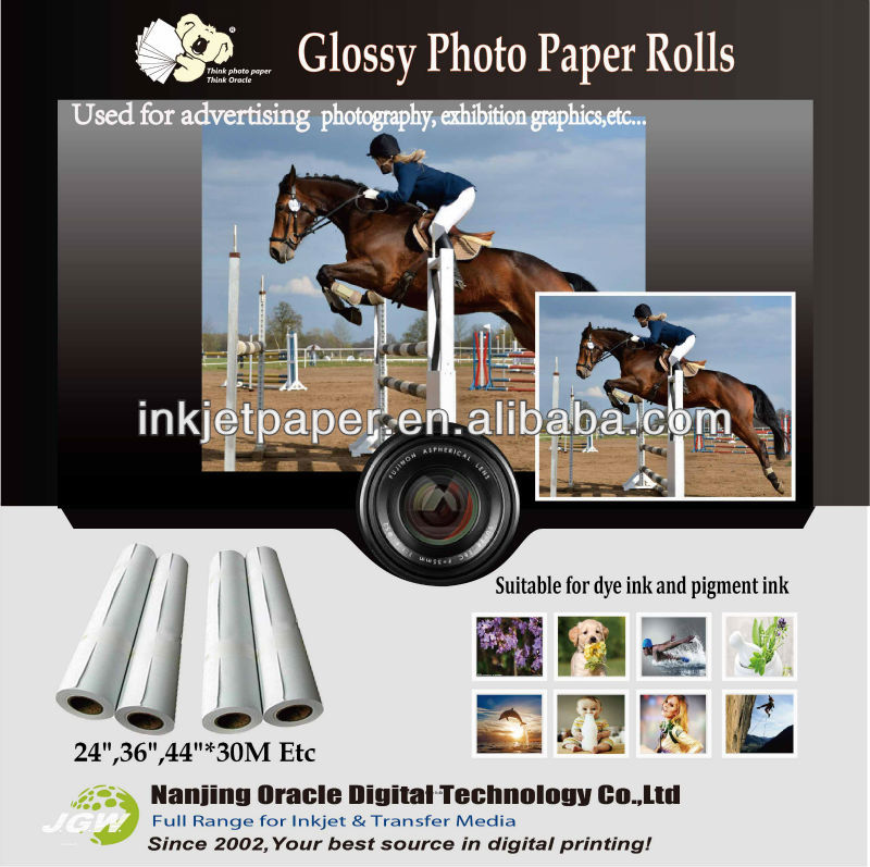 one side glossy printing photo paper,inkjet glossy a4 paper manufacturer