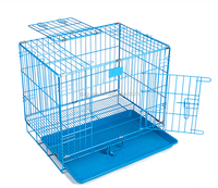 SUGUAN High Quality Traveling Foldable Metal Spraying Plastics Pet House / Wholesale Wire Dog Cage With Plastic Flooring