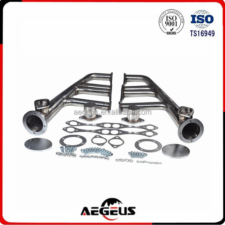 stainless steel long tube racing exhaust manifold for STREET,RAT,SBC 265-400 V-8,CERAMIC COATED,CHEVY,HOT ROD