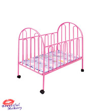 Metal swinging design baby cribs baby cot bed prices with wheels