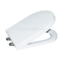 Bathroom toilet Seat Cover With Soft Close and Smart Quick Release Hinge Suitable for European D shape WC pans