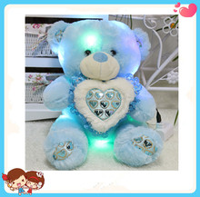 wholesale cerative design electric mp3 musical led teddy bear plush toy