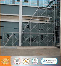 Dongguan factory supply Q195 galvanized movable 1930*1213mm h frame scaffold ladder frame scaffold