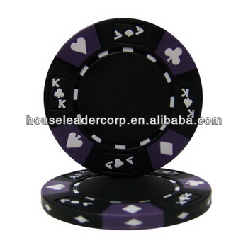 14 Gram Tri Kleur Ace Koning Suited Clay Poker Chips