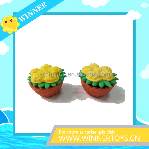 3d flower shaped stationery eraser