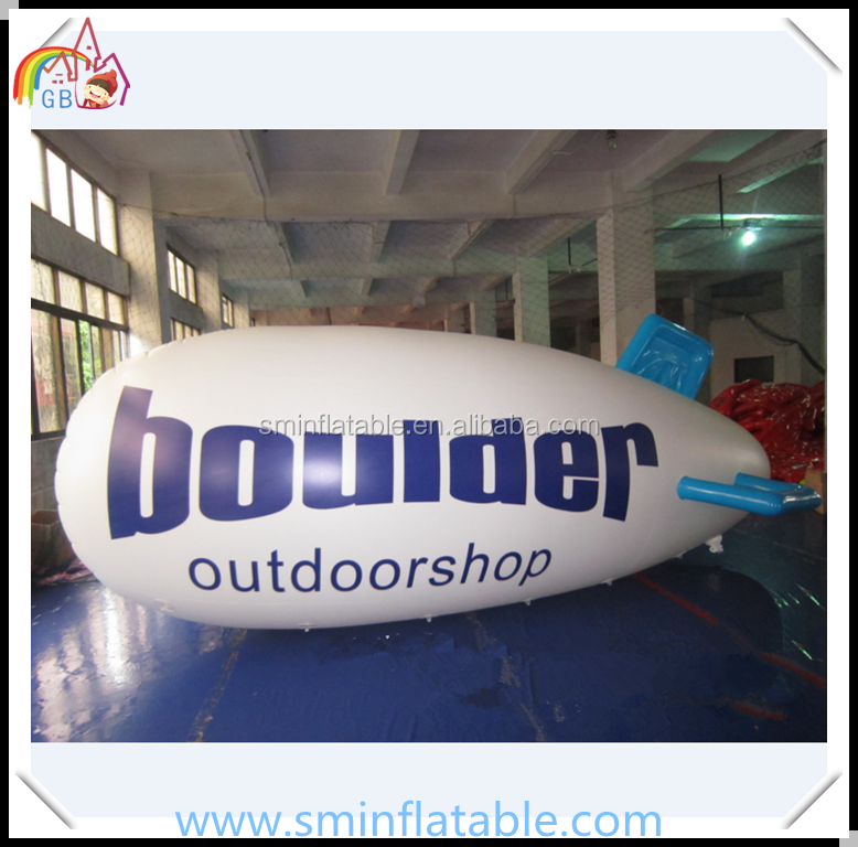 China manufacturer inflatable helium balloon, pvc helium blimps, pvc zepping airship for promotion
