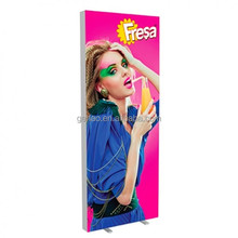 Double side free standing led fabric light box for business advertising