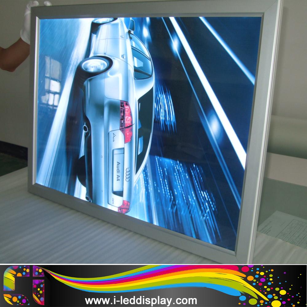 Lighted movie poster frame backlit lightbox