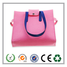 New Product Women/Lady Felt Tote Bag Shoulder Bag with Genuine PU Strap
