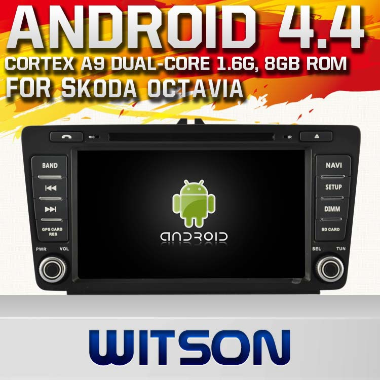 WITSON Android 4.4 DOUBLE DIN CAR DVD GPS FOR SKODA Octavia 2004-2011 1.6GHZ Frequency HD 3G Wifi Multi-touch 3D UI