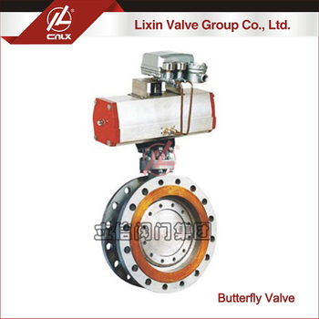 Factory wholesale ANSI pneumatic flange butterfly valve dn200