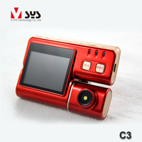 Top quality waterproof dual lens motorcycle dvr video recording camera