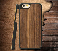 Hot selling PC Walnut Wood Mobile Phone Case 2 in 1 for Apple Iphone 6 plus