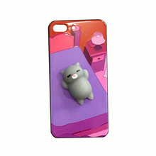 Japan 3D Cute Cartoon solid squeezed Case Soft Silicone phone case