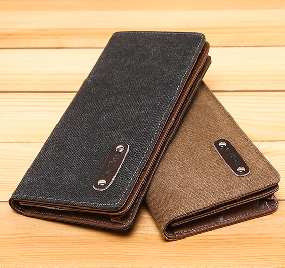 Wholesale High Quality Vintage Washed Cotton Canvas Men Wallet