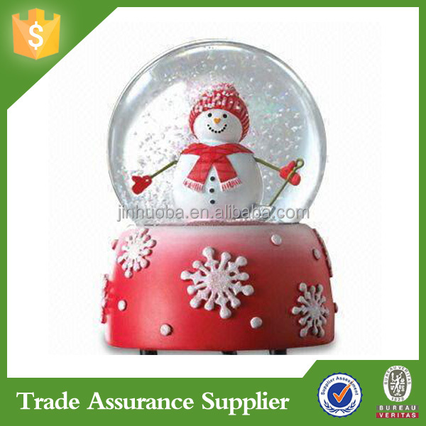 Polyresin snowman music snow globe custom
