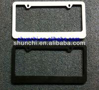 Blank Black Metal License Plate Frame