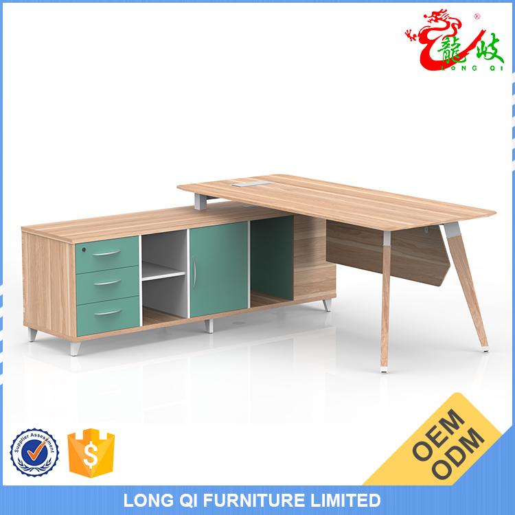 Factory direct sale modern office furniture executive table curved design director office table M1603