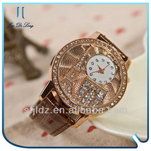 Fashion Diamond Watch With Leather Strap watches lady quemex quartz watches