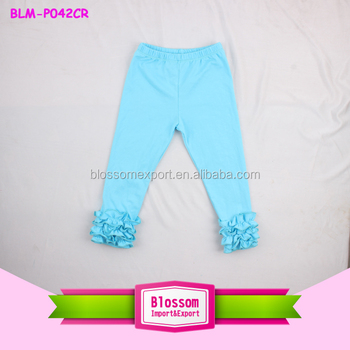 fluffy ruffles tight triple icing legging baby icing toddle ruffle pants icing leggings