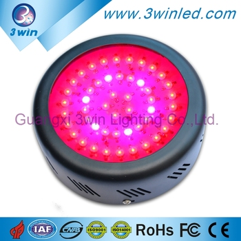 Indoor LED Grow Lighting 150W UFO LED Grow Light for Flower Blooming, Tissue Culture, Fruiting with CE FCC RoHS Approved