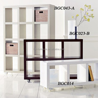 High quality hot sale wooden bookcase, wood display shelf