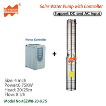 4inch 750W AC220V DC300V Brushless high-speed solar water pump with permanent magnet synchronous motor for home and farm