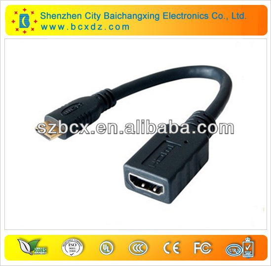 electric cable micro hdmi to displayport cable 1.4v 1080p micro hdmi to av cable with Etherent