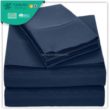 Navy Blue Color Cotton In 200TC Fabric Bed Sheet