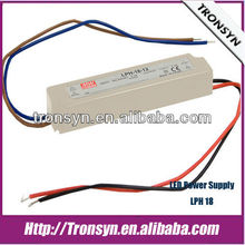 MeanWell Power Supply LPH-18-24(18W 24V) Constant Voltage LED Switching Power Supply and LED Driver