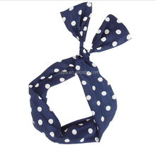 2016 lovely rabbit ears chiffon hair band Bowknot wide-brimmed hair hoop headdress