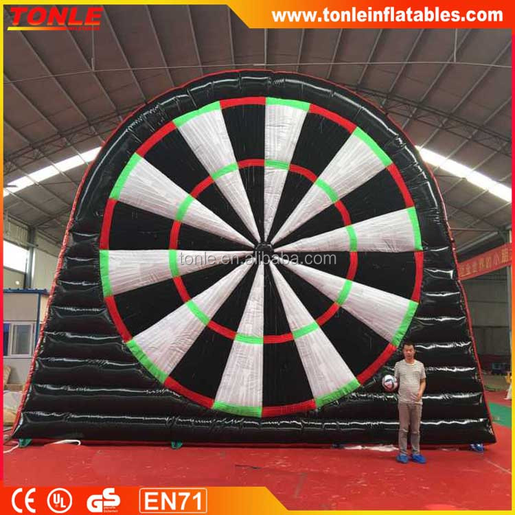 2017 popular inflatable foot dartboard game for sale, inflatable sport games for adults