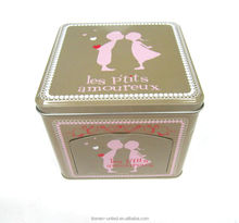 wholesale small hinged rectangular metal mint tin box