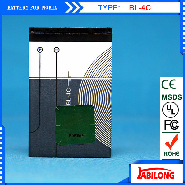 Low Price! Full Capacity 890mAh Lithium BL-4C BL 4C Mobile Battery for Nokia 6088/ 6100/ 6101 Mobile Phone Accessories