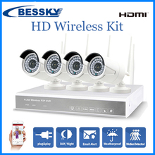 Globally Popular 960P HD home security camera system bullet ip camera nvr wireless 4ch wifi kit
