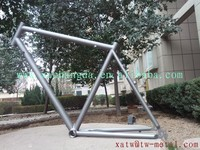 titanium mtb bike frame Integrated rack and fender hole on the dropout customize bike frame