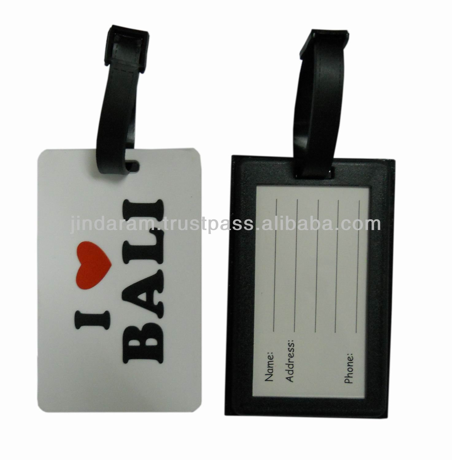 Custom travel accessories pvc luggage tag