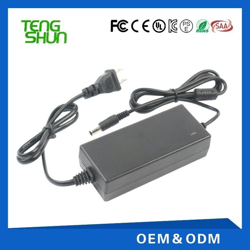 CE UL SAA KC certificate 12v 5a desktop ac dc power adapter 12v 5a