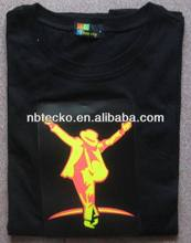 Hot Sale T-Shirt Glow in the Dark/Fluorescent Printing T Shirt