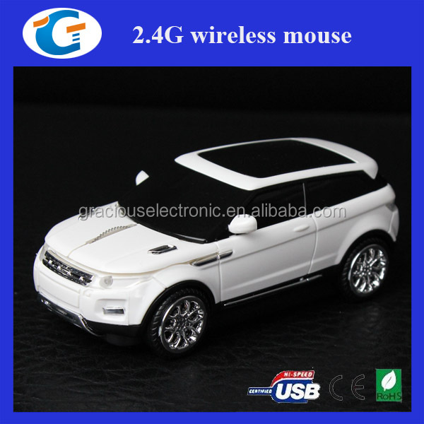 2.4GHz Wireless Racing Car Branded Mouse With Mini USB Receiver