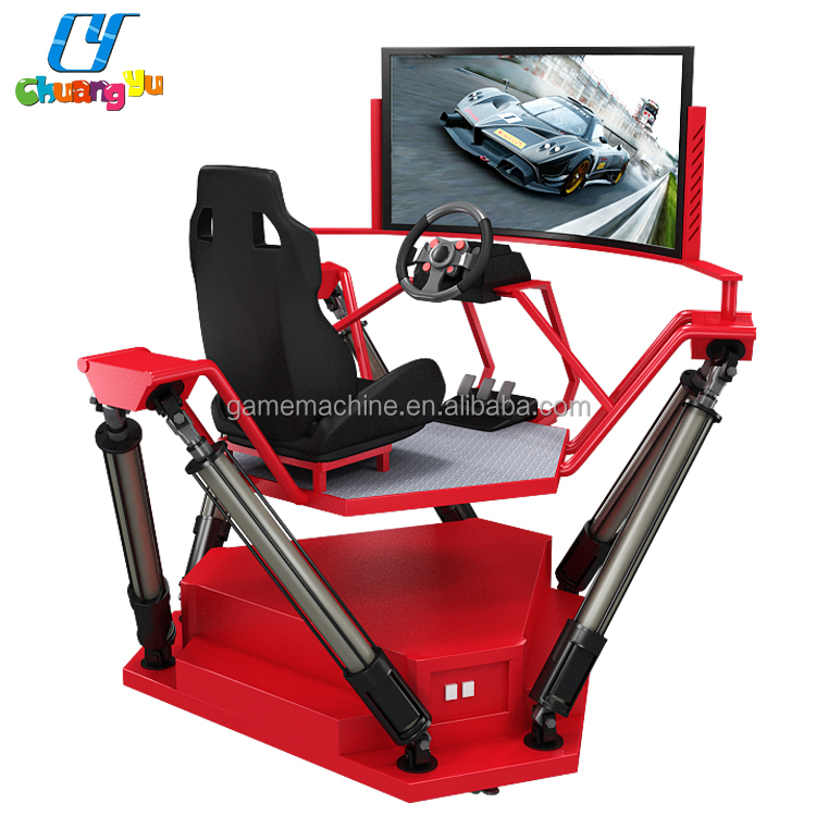 Initial Racing Game Machine simulator , motion video game machine 9d cinema car racing simulator