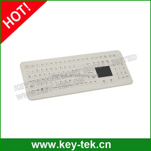 Touchpad industrial silicone waterproof keyboard for clinic
