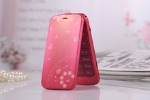 Dual SIM printing pattern small size lady flip mobile phone K07 star brand cell phone