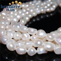 12-13mm make large hole size baroque real cultured fresh water pearl beads