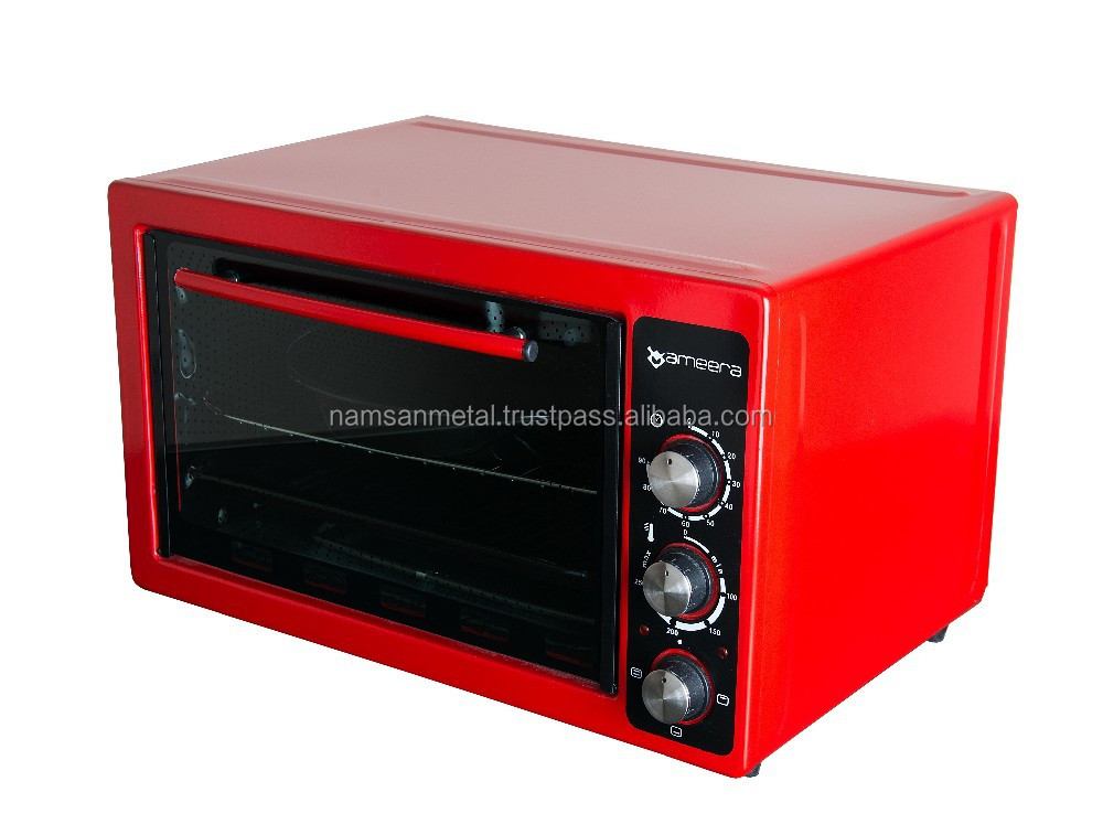 Electric mini oven with enamel tray