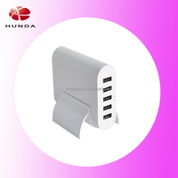 strong factory HUNDA manufactured universal wall cell phone charger portable smart fast 50 watt 5 usb multi travel charger