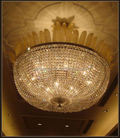 basket stainless pendant lights,classic glass ceiling light,crystal chandelier with leaves