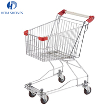 Low price heavy duty mall supermarket shopping cart hand push trolley with wheels